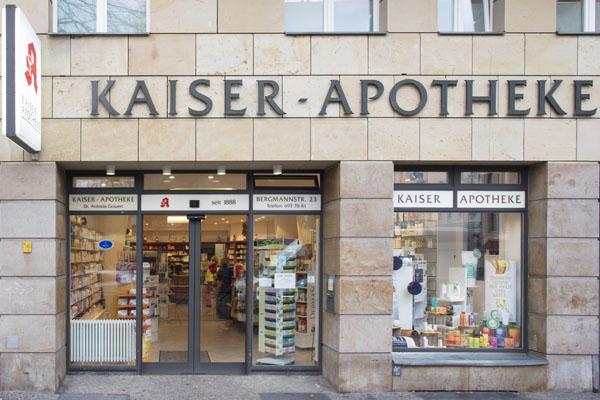 Kaiser-Apotheke Berlin Bergmannstraße - Außenansicht